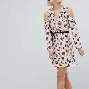 ASOS Animal Print Wrap Tea Dress